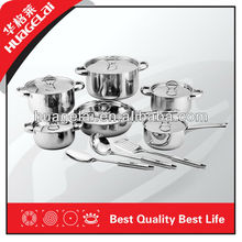 15-Pieces Stainless Steel Wholesale Houseware,Cookware Set Induction available