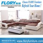 2014 modern fabricante de móveis sofá de canto de couro F895