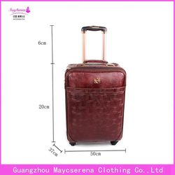 Hot best travel business carry-on luggage pvc luggage bag royal travel luggage