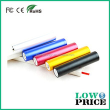 2015 Powerful with long operation time cylindrical power bank 2600mah multi-colors for choose apply to MP3/mobilephone