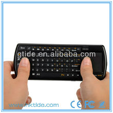 Best selling portable mini bluetooth handheld keyboard with touchpad for samsung smart tv