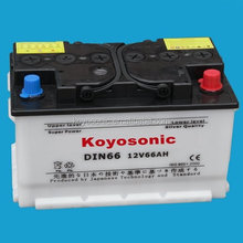 Dry Charge Car Battery, DIN 66Ah car start battery, Dry charge storage battery for car