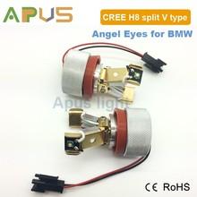 No error code H8 Split V type LED angel eyes ring for bmw
