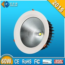 dimmable 3 years warranty cob led downlight 60w downlight