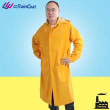 yellow protective fishing raincoat