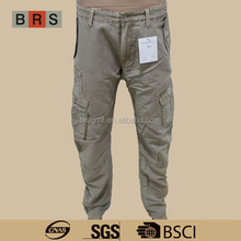 Men's fashion long pants with side pockets casual man pants/OEM service/China clothing factories