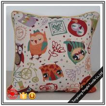New owl 45x45cm sofa pillow cover