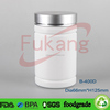 400ml white hdpe plastic medicine bottle on sale with silver aluminum cap