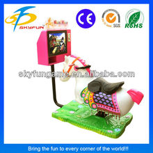 2015 new games coin operated kiddy ride Golden horse children game