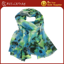 2015 lady abstract painting designer scarf wholesale china