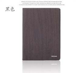Superior quality wood grain PU leather protective cell phone case for ipad mini 3, fashionable folding leather case for ipad