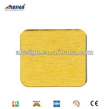 Proffessional design aluminum plastic cladding ACM gold brushed aluminium composite panel