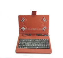 Detachable wired keyboard case with USB/Min/Micro USB interface