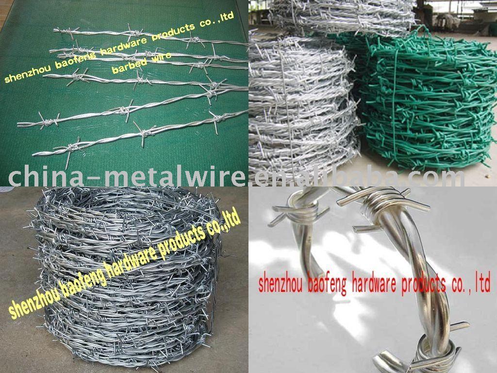 Galvanizado alambre de púas ( precio de fábrica )