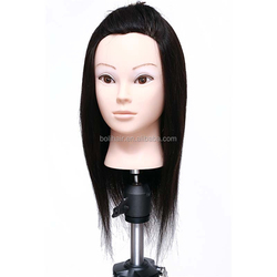 mannequin human hair head/hairdressing / factory low price / large stock training head with hair