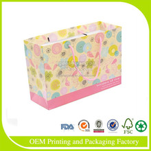 Factory direct sale high quality top price high-end customized Blank foldable paper shopping bag