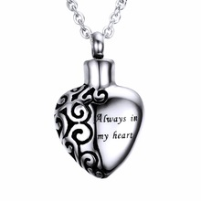 High quality stainless steel jewelry openable sideways broken heart necklace for memorial