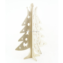 Handmade wooden 6ft white christmas tree, carving christmas tree decorations