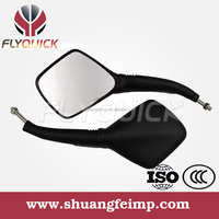 FLYQUIC Professional Supply Motorcycle back mirror,motorcycle side mirror black plastic mirror,motorcycle parts made in china