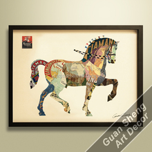 3D wall picture,painting,decor,moving horse,animal,gift
