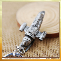 XS54947 Manufacturers Selling Film Star Wars Airship Model Key chain Wholesale