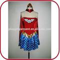Sexy mujer maravilla traje de superhéroe traje adulto para la muchacha PGFC-2454
