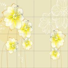 decorativo impresso modello fiore intagliato piastrelle di ceramica piastrelle di parete di fondo