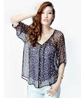 fashion clothes women/Newest chiffon blouse of 2013