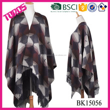 Blanket Scarf, Shawl Scarf, Jacquard Winter Poncho