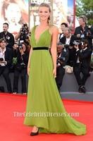 Celebrity Inspired Fiammetta Cicogna 70th Venice International Film Festival Sexy Green Dress