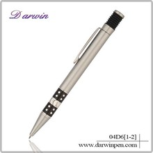 Wholesale school supplies design promotional pen pens with metal clip