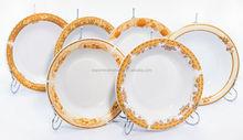 9.25 omega soup plate/white antique porcelain soup plate/personalized porcelain plates