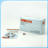 Zinc Air hearing aid Batteries A10, A13, A312, and A675