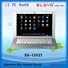"""dual HDD slots Android netbook 13.3inch color cover angled-model dual core 1280*800 resolution 13.3""""netbook"""