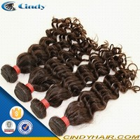 new arrival super star bushy brazilian human hair extensions dark brown curly