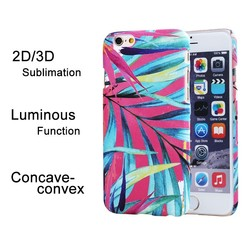 3D sublimation case for iphone 6,3D sublimation mobile phone case with Luminous function in the dark