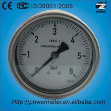 ( de y- 100z) 100mm caja de acero inoxidable de nuevo tipo negativo fabricante de presión manométrica