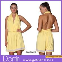 Venta al por mayor de moda vestido halter, espalda corta vestido para mujeres
