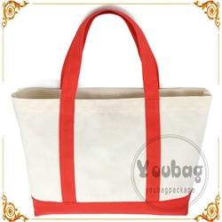 Eco white Women Handbag Canvas Tote Bag Cotton Shopping bag