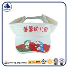 Kindergarten cartoon summer child visor cap with print logo cap manufacturer