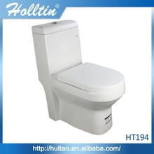 HT194 Red Elongated Colourful Ceramic Toilet Hot Sales