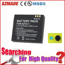 Travel products 2015 lithium ion battery, rechargeable batteries for xiaomi sports camera