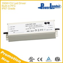 IP67 Grade 150W 60V Constant Voltage Led Driver with Built-in Active PFC