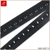 Black color high quality hook and eye tape for bra accessories