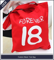 Custom printed stylish canvas duffle tote bags/blank canvas wholesale tote bags