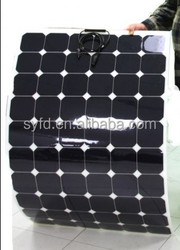 semi flexible 200W American sunpower solar module for boats, caravans, launch & mobile homes used with CE certified