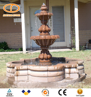 Well polished Natural marble water fountains with statues