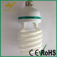 2015 new type half spiral energy saving light bulb parts 100% aging line test
