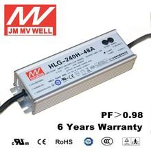 240w waterproof adjustable led bulb driver with 6 years warranty CE UL EMC RoHS