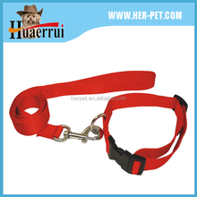China factory S/M/L size acceptable nylon dog collars&leash with foam logo printing